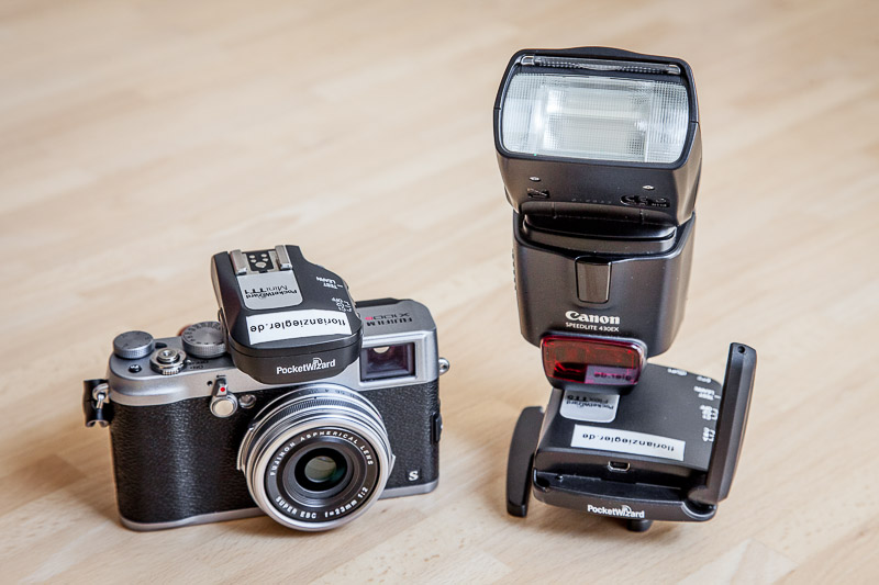 The Setup: Fujifilm X100S & Canon Speedlite 430EX & Pocket Wizards