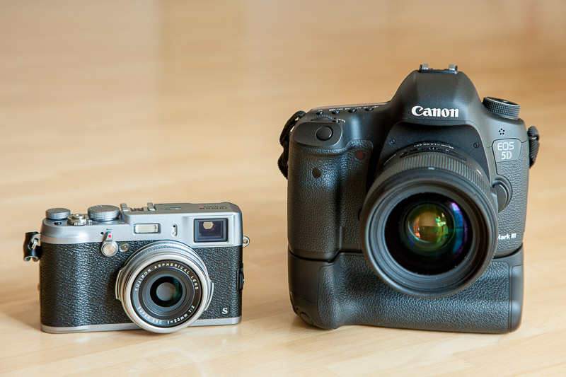 Fujifilm X100S vs. Canon 5D Mark III