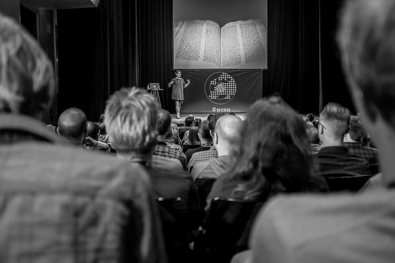 Tammie Lister during her The Life of a Theme talk at WordCamp Europe 2013