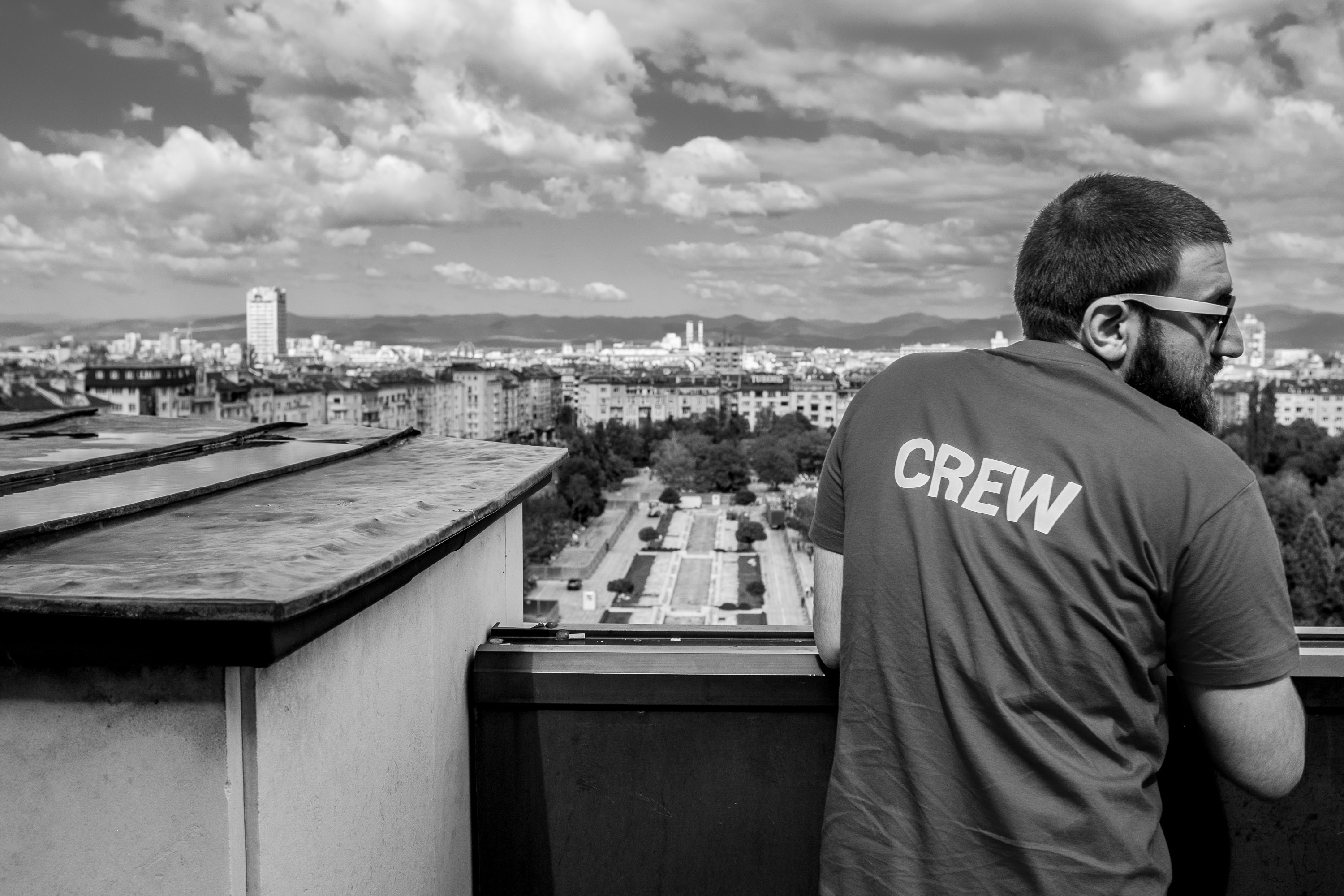 Mario Peshev enjoying a small break in the sun during WordCamp Europe 2014