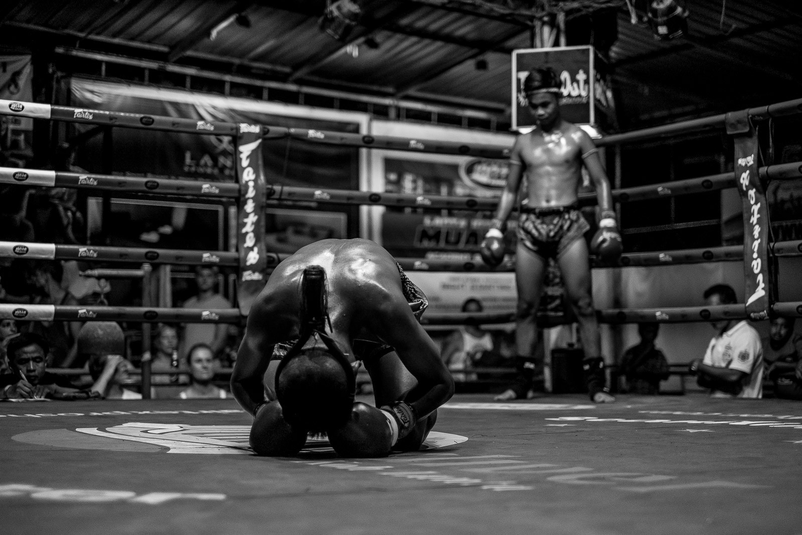 Muay Thai fighters in the ring