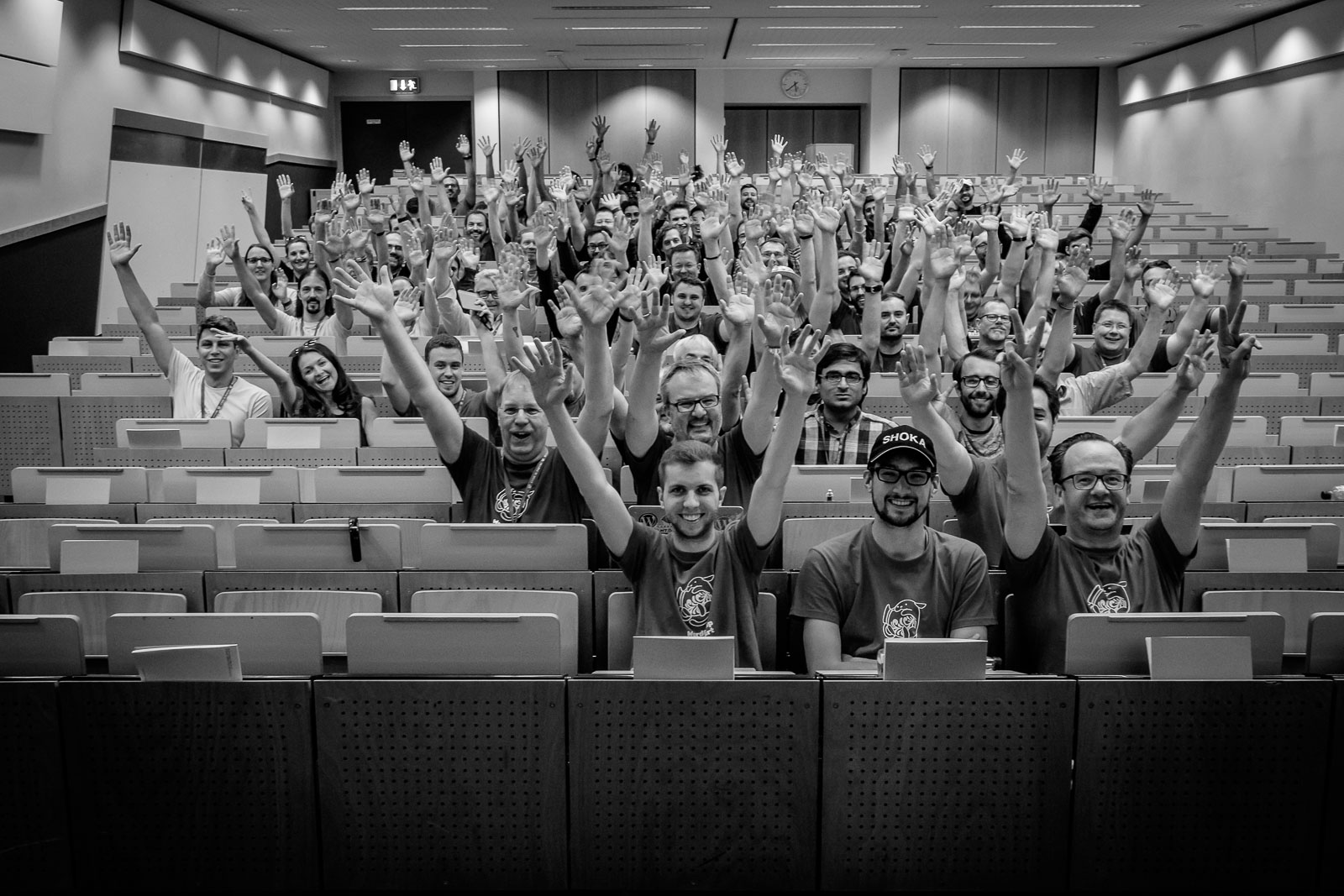 Attendees of WordCamp Frankfurt 2016