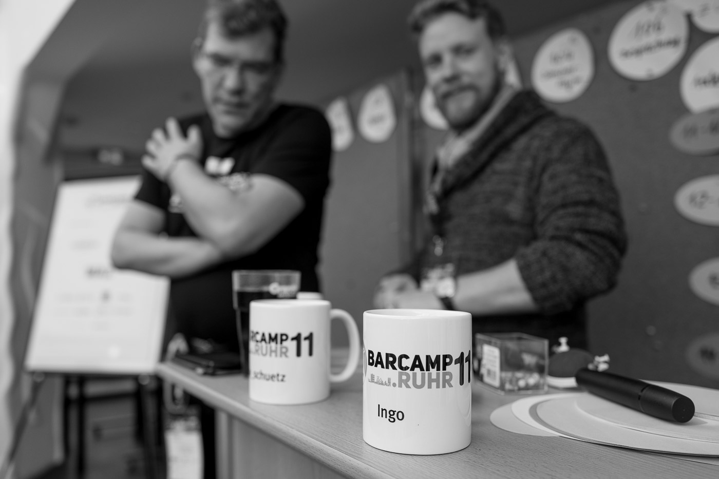 BarCamp Ruhr branded coffee cups